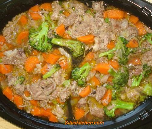 Mutton veggie soup