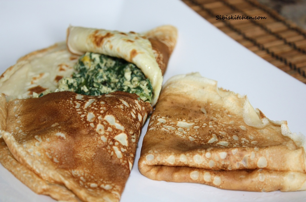 Spinach-Egg Crepes