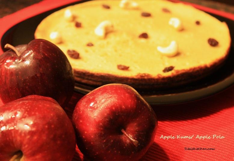 Apple Pola/ Apple Kums / Apple-Egg sweet
