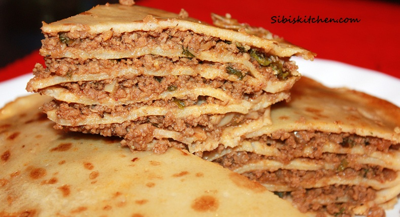 Athishaya Pathiri/ Athrippa Pathiri/ Layered Meat Pie