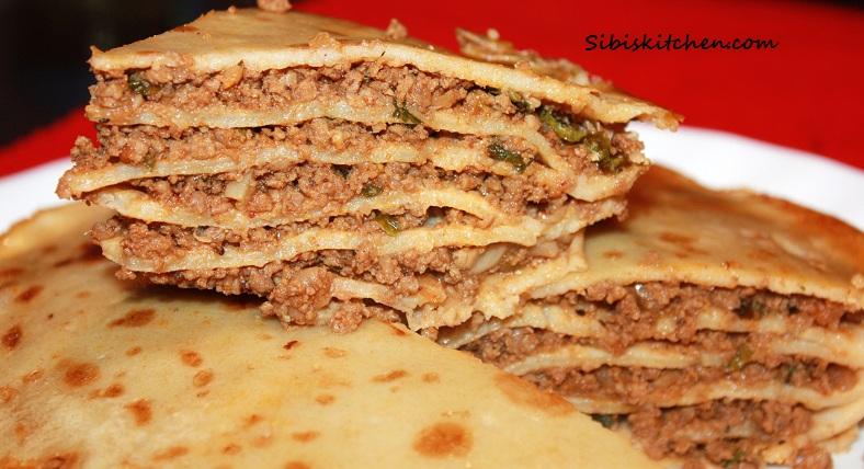 Athishaya Pathiri/ Athrippa Pathiri/ Layered Meat Pie